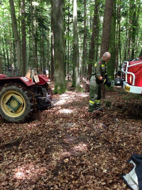 Traktorbrand in Edelsgrub