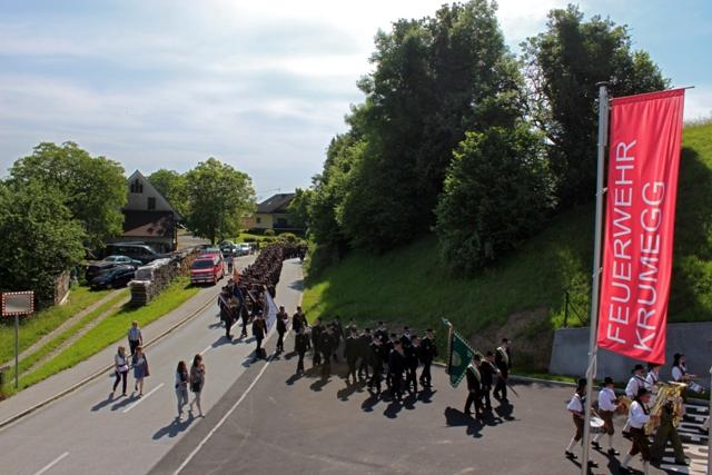 Segnung des neuen Feuerwehrhauses in Krumegg verbunden mit dem Abschnittsfeuerwehrtag