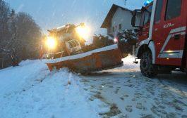 3 Schnee-Einsätze am 12.02.2018