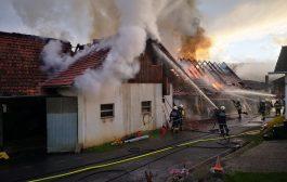 Wirtschaftsgebäudebrand in Ungerdorf